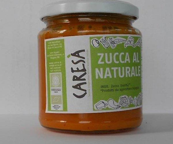 Passata di zucca al naturale senza l'aggiunta di altri ingredienti.