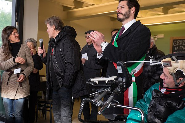 Sara Tognato, presidente società cooperativa sociale agricola Caresà, Michele Giraldo, sindaco di Brugine, Renzo Rosso fondatore della Only The Brave Foundation