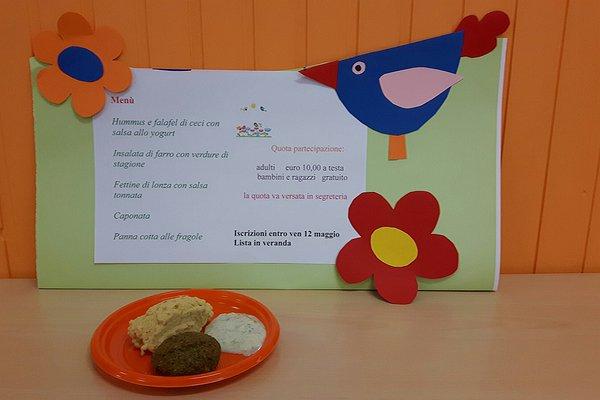 """Menu del pranzo_Scuola dell'Infanzia """"Madonna Addolorata"""" di Arzerello di Piove di Sacco"""