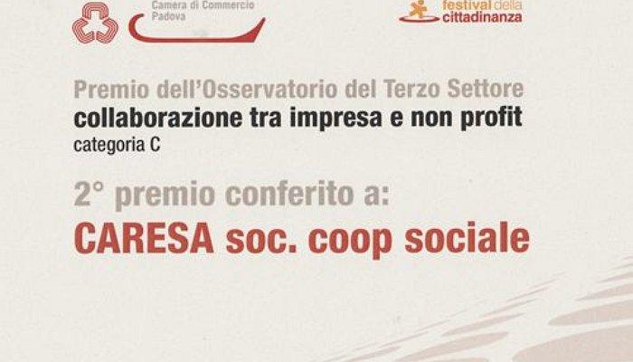 Alla cooperativa sociale Caresà il premio dell'Osservatorio del Terzo Settore