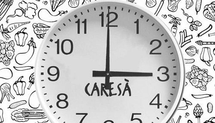 Caresà cambia orario