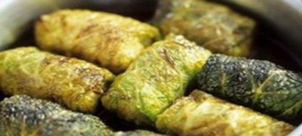 Fagottini di verza con carne di pollo