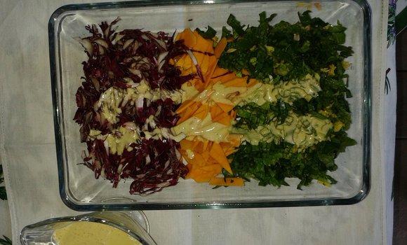 Verdure crude con salsa agli agrumi