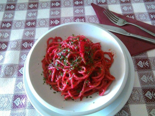 Spaghetti alla cardinale