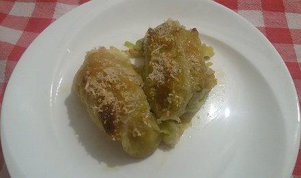Involtini verza, zucca e patate con cuore di formaggio