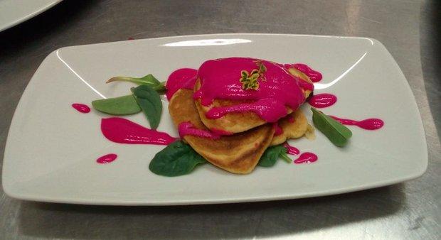 Pancakes alla rapa rossa